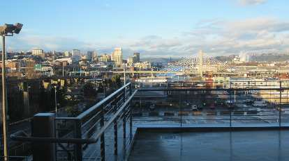 Tacoma as viewed from the Lemay Museum.
