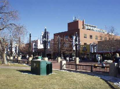 It was a delightfully sunny day in Boulder along Pearl Street.