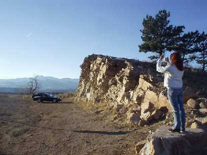 We arrive at a Horsetooth Mountain vista point towards the tail end of a splendid 60-mile drive around Rist Canyon.