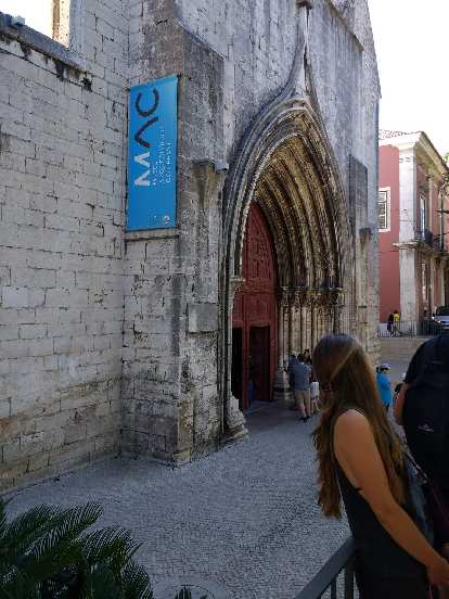 The Carmo Archeological Museum at the Carmo Convent of Lisbon.