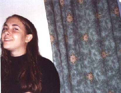 Carolyn in her flat.