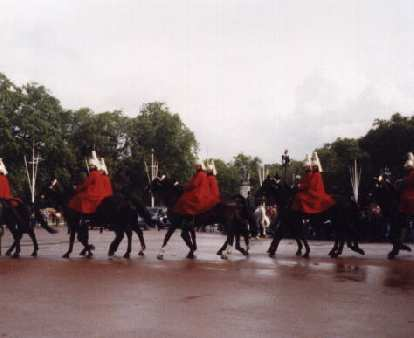Marching band horses.