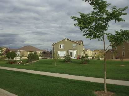 "Many newer tract home developments are popping up with ""large homes, small lots, big life""."