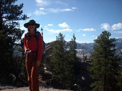 Anna had been doing a lot of hiking lately and was happy to come for this 8-mile hike at Lumpy Ridge, CO.