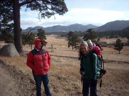 Dana, Nick and Alistair heading back.