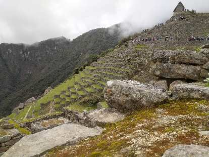 Terraces used for farming at Machu Picchu.