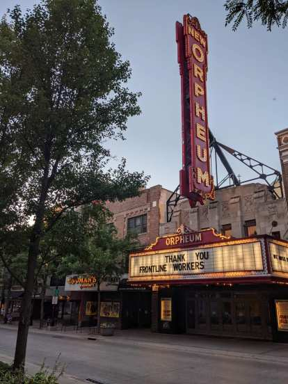 The New Orpheum theater in Madison, Wisconsin.