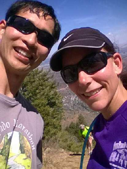 Felix and Lisa at the top of the Manitou Springs Incline.
