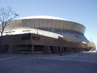 The actual start and finish of the race was outside of the Louisiana Superdome.  The interior of the dome won't be ready until September 2006 for the first New Orleans Saints home football game of the year.