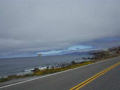 [Mile 55, 11:13 a.m.] The extra 200k loop went along Highway 1 to Bodega Bay, with brief glimpses of the Pacific.  There were many surfers out today.