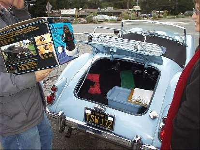 """At this meeting I returned Mike Jacobsen's orbital buffer, which Mike had graciously lent me a couple of months ago.  """"But where am I going to put it?"""" Mike asked, since the box was to big for the trunk in his MGA and the passenger seat was needed for his guest..."""