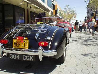 Rear view of a black MGA, owned by Greg Paulsen.