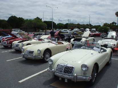 A whole row of cream-colored MGAs.