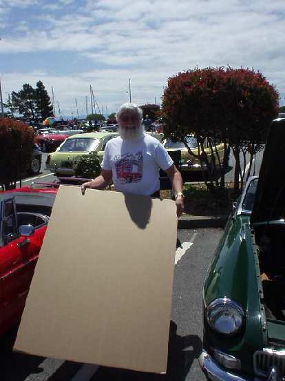 Look!  Bob Stine's 1968 MGB did not leak a single drop of oil!  Bob had just replaced the clutch which was saturated with oil due to a leak main seal (which apparently must no longer be leaky!)