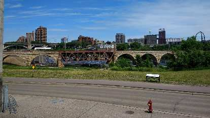 The Stone Arch Bridge in Minneapolis.