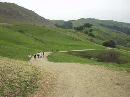 Us going down.  Isn't Mission Peak so wonderfully green right now?