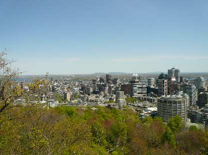 The view of Montreal to the east.