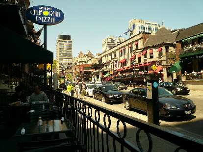 Outdoor dining is very popular in Montreal -- at least when the weather is nice like it was in May!
