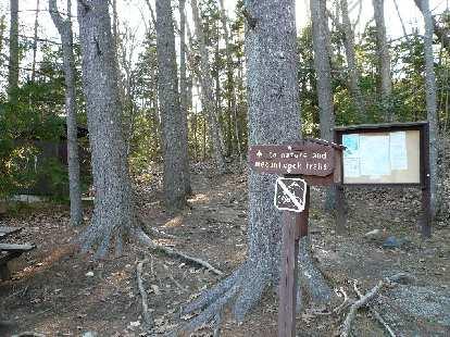 Start of the hiker's trail up Mt. Battie.