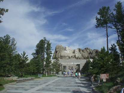 The Mt. Rushmore monument, featuring George Washington, Thomas Jefferson, Abraham Lincoln and Theodore Roosevelt.