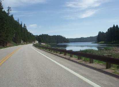 This may be Horsethief Lake along Highway 244?
