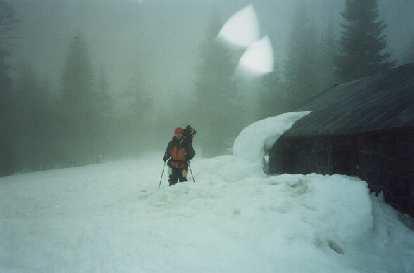 We arrive at the Sierra Club Lodge at 7800 feet.