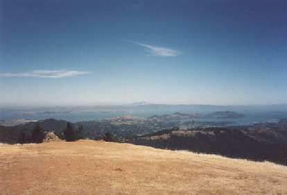 Great views abound of the SF Bay Area, with Mt. Diablo sticking prominently out in the background.