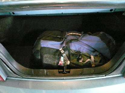 Unfortunately, due to the convertible top, the trunk wasn't much larger than my BMW Z3's.