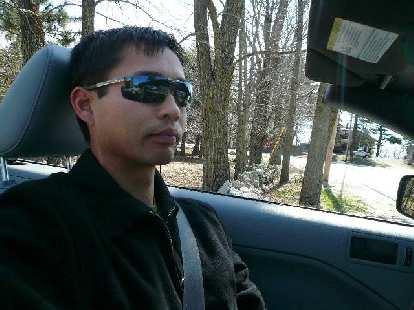 Felix Wong behind the wheel.