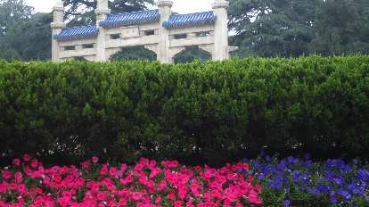 Flowers at the Sun Yat Sen Mausoleum.