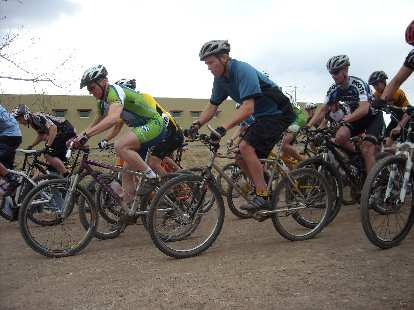 The intermediate racers starting out.