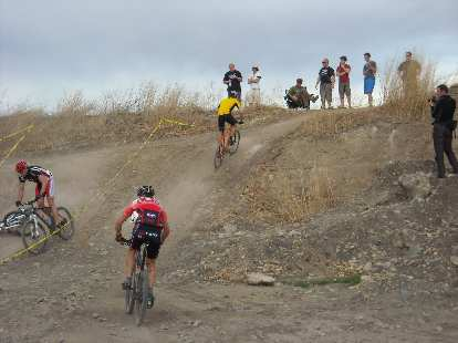 One of the several short but steep hills.