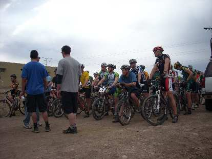 Lining up for the first New Belgium Short Track MTB Race of the season.