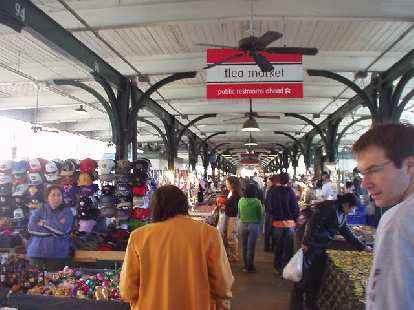 The flea market in the French Quarter.