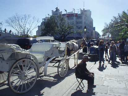 Tourism is even sort of thriving there.  Tourists can get horse rides through the French Quarter.
