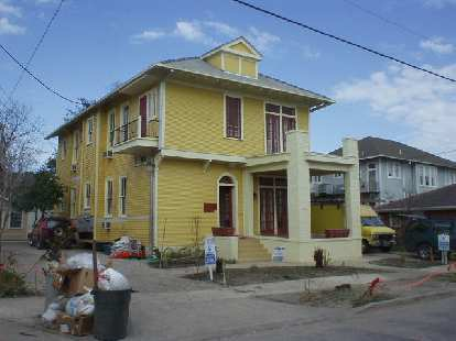 Progress is being made, however, as exemplified by this newly repainted home.  Best of luck to the great city of New Orleans!