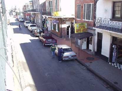 Another view of lively Bourbon St.