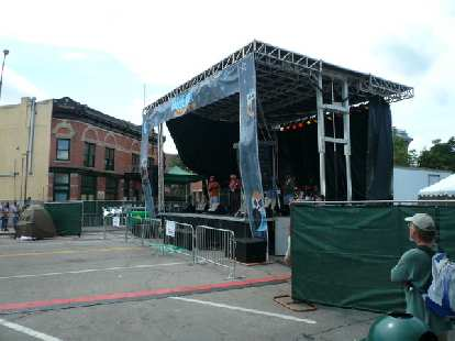 One of the many music stages at New West Fest.