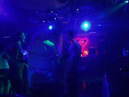 Inside the disco club.