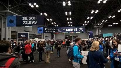 The pre-race 2016 New York City Marathon Expo at the Jacob K. Javits Convention Center.