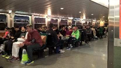 The 5:45 a.m. ferry from Whitehall Terminal, Manhattan to Staten Island.