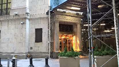 The New York Stock Exchange off Wall St.