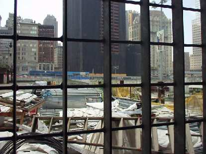Ground Zero, as viewed from the World Trade Center subway station.  We went here to board a ferry to Sandy Hook (and also pass by the Statue of Liberty).
