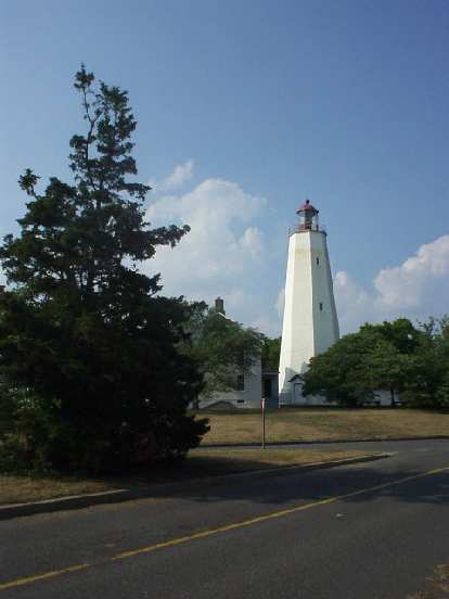 The light house at Sandy Hook is the oldest light tower still operational today in the U.S..