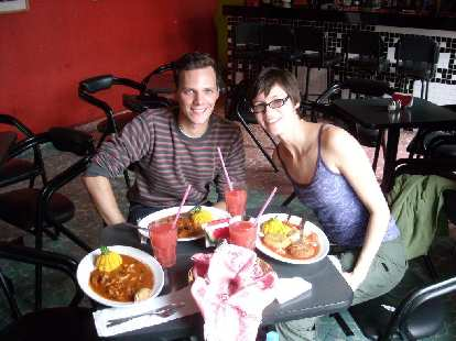 Sarah invited a very cool German named Killian to have lunch with us.  The food at Comala was amazing!
