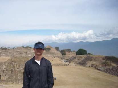 Felix Wong at Monte Alban.