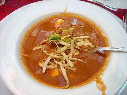 Sopa Azteca (tortilla soup) is a classic Mexican dish.