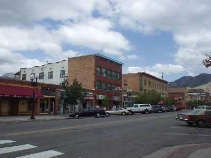 Another view of downtown, which was not very busy on this Saturday.