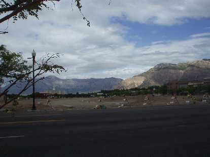 The Wasatch Mountains when viewed from downtown towards the northeast.