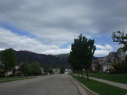 An adjacent newer neighborhood with a nice view of the mountains whenever one drives home.